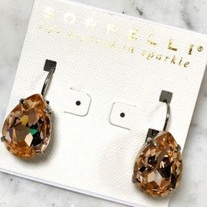 Sorrelli LARGE Pear Champagne Gold Crystal Earring